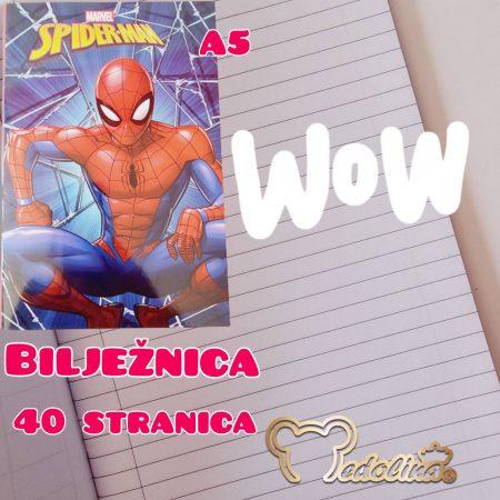 SPIDERMAN BILJEŽNICA A5