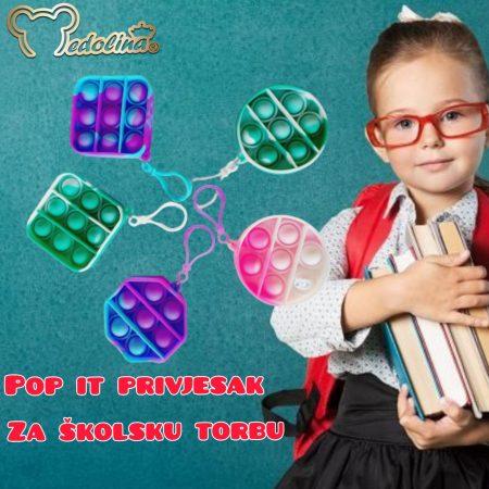 POP IT PRIVJESAK ZA ŠKOLSKU TORBU BACK TO SCHOOL